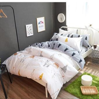 4pcs/Set Cotton Soft Bedding Set Vintage Comforter Sets Durable Duvet Cover/Bed Sheets/pillowcase Home Decor King Size - intl