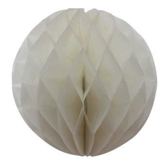 10 buah 20,32 cm warna Solid tergantung kertas sarang lebah seperti bola untuk pesta pernikahan pesta ulang tahun dekorasi rumah putih