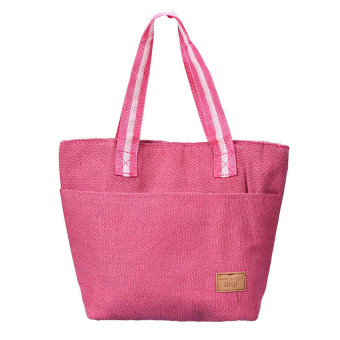 LZ Portable Food Bags Lunch Bags Convenient Lunch Packet Pink Freeshipping - intl