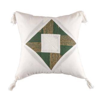 Vio Spirit Rhombus Cushion Sarung Bantal C-06 Green White