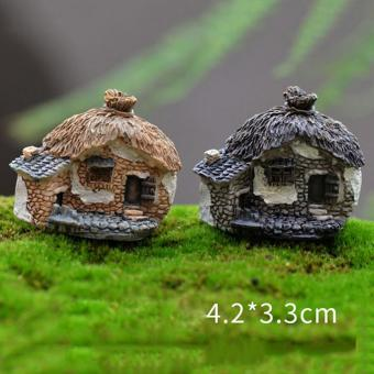 Fashion Vintage Houses Miniature Fairy Garden Home Houses Decoration Mini Craft Micro Landscaping Decor Diy Accessories Type6 - intl