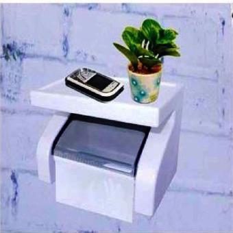 Harga Dispenser Tissue 2 In 1 Wadah Tisu + Tempat Cas Hp Smatphone Aksesories Kamar Mandi