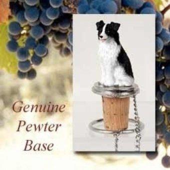 Border Collie Wine Bottle Stopper - intl