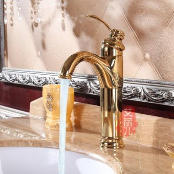 Toilet basin faucet continental bathroom counter basin Rotating omni-copper basin hot and cold Single Hole - intl