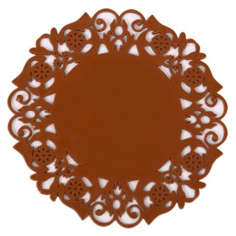 PVC Lace Flower Cup Coaster Pad Nonslip Cushion Placement (Intl)