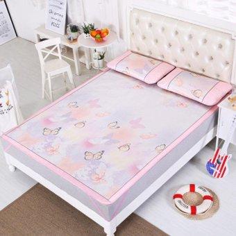 Bedding mat seats three piece folding bed mat 180x195cm - intl