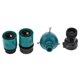 100FT Anself Expandable Ultralight Garden Hose Fittings Set Flexible Water Pipe + Faucet Connector + Fast Connector + Valve + Multi-functional Spray Nozzle Dark Green