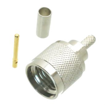 Fliegend 10pcs mini UHF miniUHF male plug crimp RG174 LMR100 RG316 RF connector