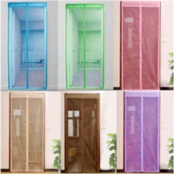 DapurBunda Tirai Pintu Magnet Anti Nyamuk Magnetic Curtain Magic Mesh - UNGU. >>>>