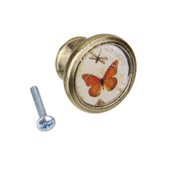 Cabinet Door Drawer Cupboad Bin Handle Pull Knob Butterfly Dragonfly