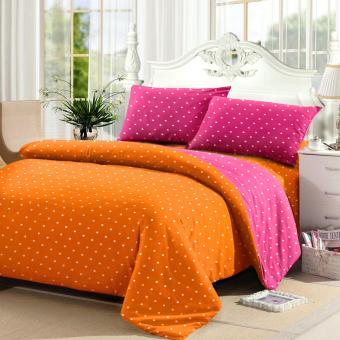 Jaxine Sprei Tinggi 25cm Motif Polkadot Warna Oranye Pink