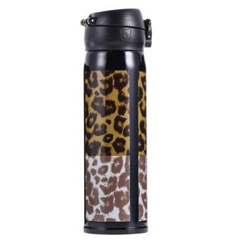 Harga 500 ml tahan karat cangkir perjalanan teh kopi panas terisolasi vakum Macan Tutul
