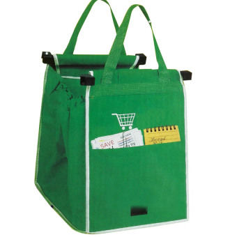 Grab Bag 1 Pack Reusable Ecofriendly Shopping Bag That Clips To Your Cart
