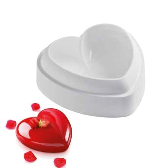 ... Harga Chocolate Jelly Mousse Bread Mould Savoury Cake Pan Silicone Love Heart Shape Cake Mold Baking