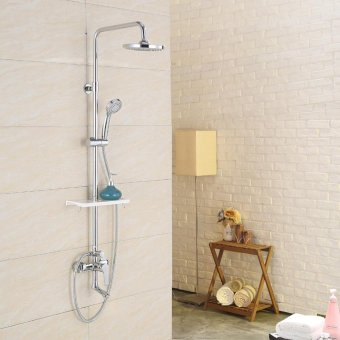 high qualityHome shower Kit, shower, shower, hot and cold copper faucet, can be raised and lowered shower set, - intl