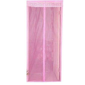 New Generation Tirai Magnetik Langsung Pakai Tirai Bird Polos -Pink