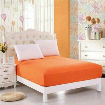 Alona Ellenov Sarung Kasur Waterproof (Anti Air) Warna orange Uk 160x200x15cm - orange