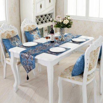 Harga Classic Modern Cotton Linen Table Table Runner color:#3 size:33*