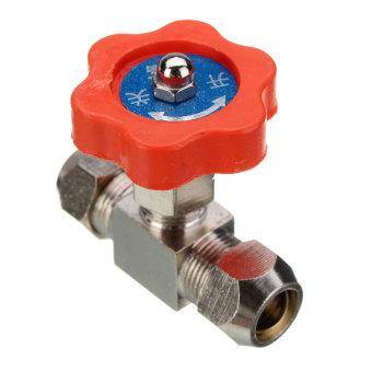 Tube OD 6mm Nickel-Plated Brass Swagelok Plug Needle Valve 10mm (Intl)