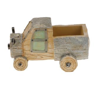 BolehDeals Resin Truck Container Planter Bed Succulent Pot Herb Flower Trough Box-Gray