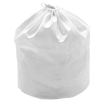 Polyester Big Mesh Drawstring Laundry Washing Bag Clothes Clothing Wash Bag Travel Carrying Bag White
