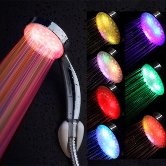 DODO Colorful Shower Head Home Bathroom Sprinkler 7 Colors Changing LED Light Shower Accessories Headband for Bath