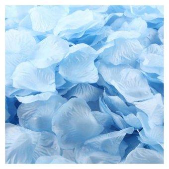 Harga Coconie 1000 buah sutra mawar kelopak buatan jasa dekorasi pesta pernikahan bunga biru muda