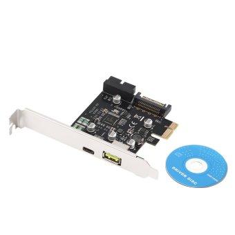 Harga Allwin PCI-E 1x Express to USB 3.1 Type C Dual Port Expansion Card