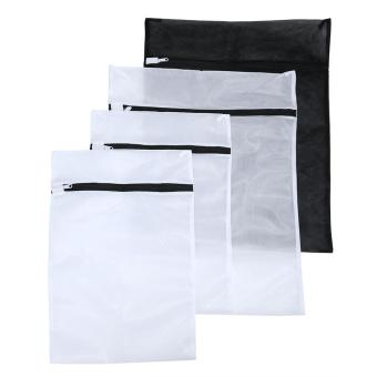 yiokmty Delicates Laundry Wash Bags Mesh Drying Bag Black and White, Set of 4 - intl