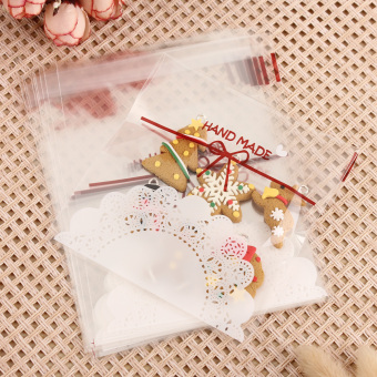 600 Pcs Cute Christmas Xmas Cookie Biscuit Gift Candy Party Filler Cellophane Bags - intl