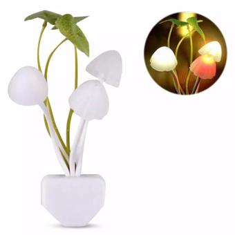 Lampu Tidur LED Sensor Cahaya Lampu Jamur (Lampu Avatar) - White
