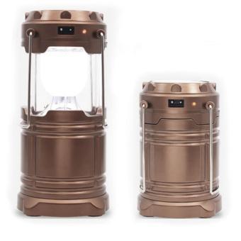 Lampu Lantera Emergency Tenaga Solar - Brown