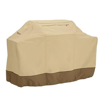 Outdoor BBQ Grill Cover 420D Oxford Cloth Anti-waterbeads Heat Resistance Dust Barbecue Protection Microwave Oven Protective Homelife Accessories with 2 Pockets Beige - intl
