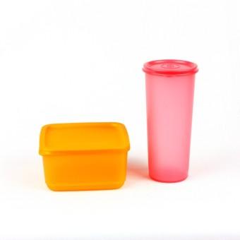 Tupperware Small Summer Orange N Giant Tumbler Pink