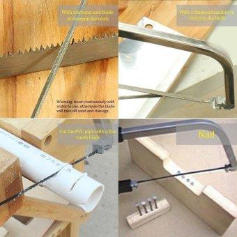 Harga 12 in 1 Magic Hand Saw Woodworking Hacksaw Set Bow Detachable Combination tools - intl