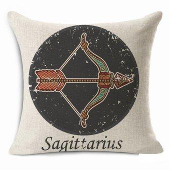 Thick Cotton Linen 45*45cm Decorative Cushion Cover Throw PillowCar Sofa Case Sagittarius Fashion High Quality - Intl