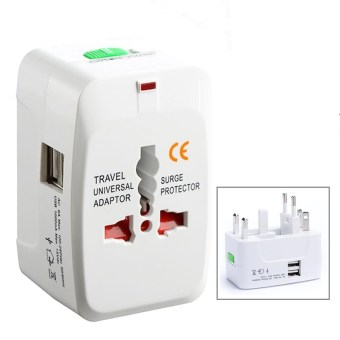 Harga Comfkey 2 USB Charging Port (1A) Universal Travel Adapter AC Power All in