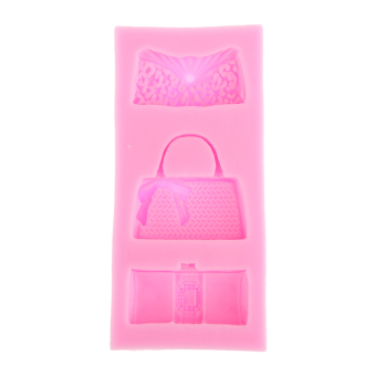 BolehDeals Fondant Lace Mould Embosser Cake Sugarcraft Decorating Mold Handbags