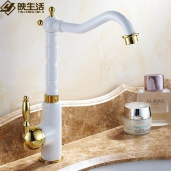 All copper hot and cold shower bathroom cabinets 402 Basin Sinks Faucets washbasins continental retro antique style hot and cold shower color mixer - intl