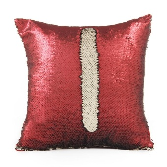Sequin Reversible Pillow Magical Color Pillow Case and Pillow Core(Cover and Pillow) - intl