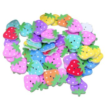HKS DIY Strawberry Buttons Set of 50
