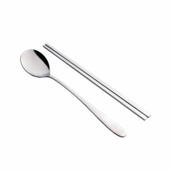 Harga Tanica Sendok Sumpit Korea Set 4 Pasang - Stainless Steel