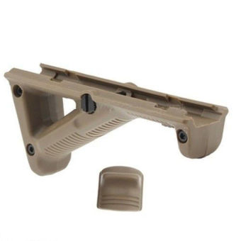 Lucky New Tan Tactical Angled Hunting Hand Guard Foregrip Fit 20mm Picatinny Quad Rail - intl