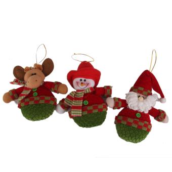 BolehDeals 3pcs Fabric Christmas Tree Hanging Decorations Santa, Snowman, Reindeer