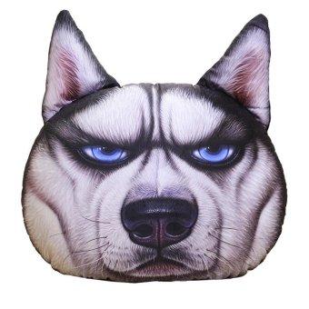 Pillow creative personality dog ??pillow dog head lumbar office car cushions sofa bedside pillow, large 50-55cm, A - intl