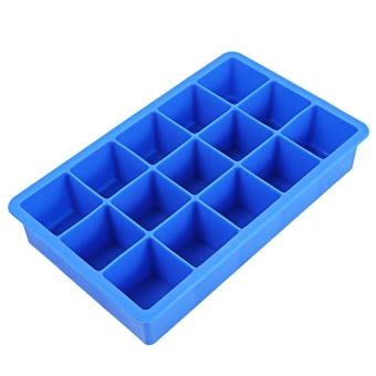 LZ 15 Cavity Silicone Ice Cube Candy Chocolate Mold (Blue) - intl