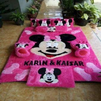 Harga Karpet Karakter Mickey Mouse Pink
