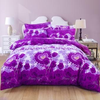 Fashion bedding sets Cotton With Velvet Bedspread 4pcs Bed Linen Bed Sheets Duvet Cover Set
