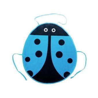 BolehDeals Blue Ladybird Pattern Fabric Aprons for Children Craft Party