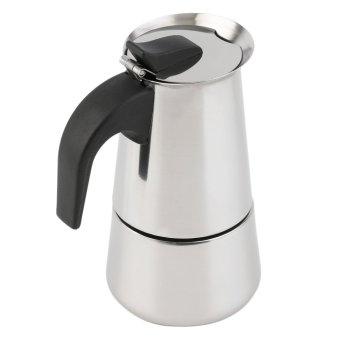 Harga O 2-Piala Cerek Penapis Kopi Moka Di Atas Kompor Pembuat Espresso Latte Panci